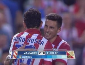 Хосе Соса после окончания матча Атлетико-Эльче